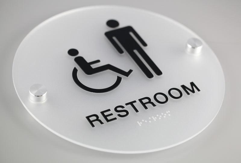 ADA Signage Restroom Sign - Des Moines, Iowa