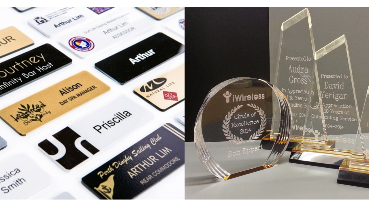 Custom Name Badges and Awards