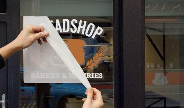 Breadshop Window Graphic
