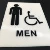 ADA Signage for a Mens Restroom