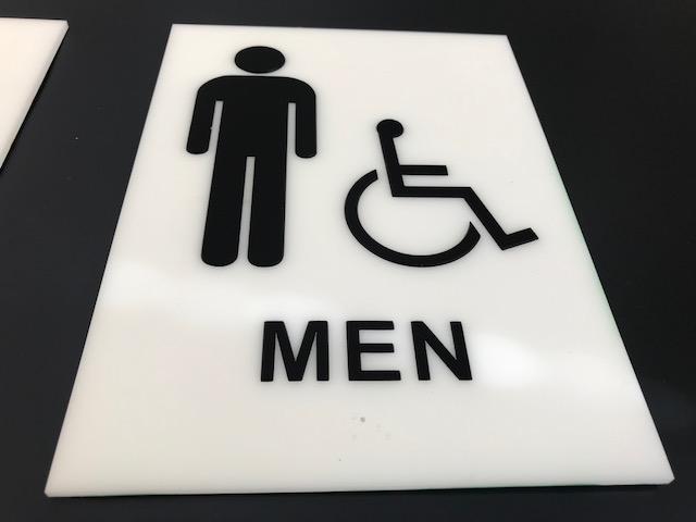 ADA Signage for a Mens Restroom