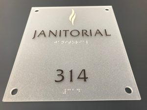 ADA Signage for a Janitorial Room - Des Moines, Iowa