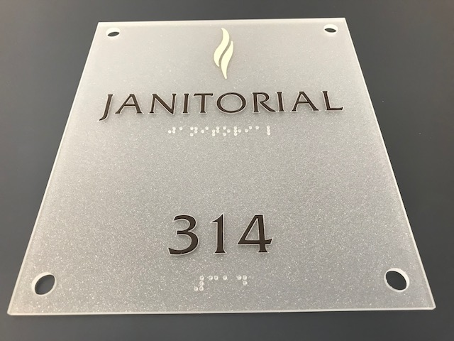 ADA Signage for a Janitorial Room