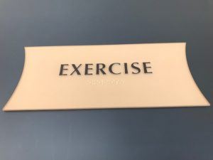 ADA Signage for an Exercise Room