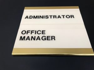 ADA Signage for an Office Manager