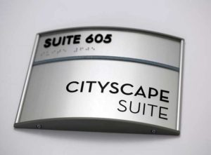 Architectural Aluminum Curved Signs - ADA Signage In Des Moines, Iowa