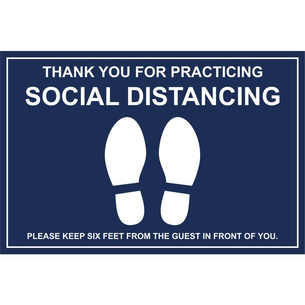 Social Distancing Signage - American Marking Inc. - Custom Signage